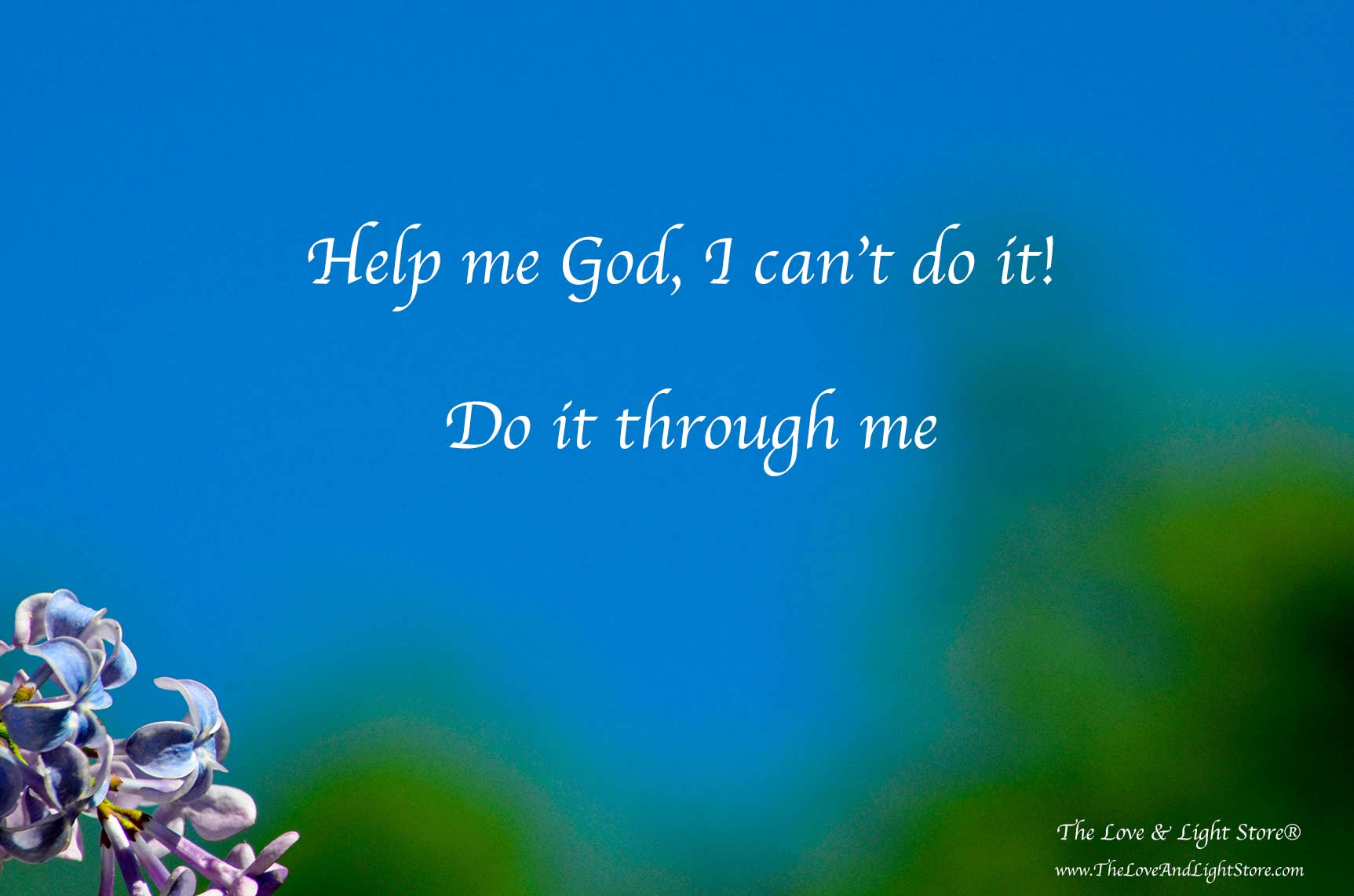 "We can simply surrender to the fact that the circumstance is beyond our ability in the moment and say. ""Help me God, I can't do it. Do it through me""."
