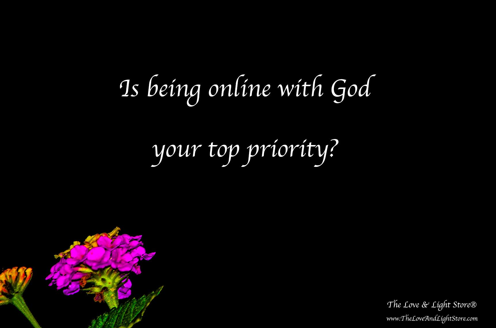God is always there broadcasting guidance and wisdom. We only need to go online with God to be available to it that we can receive it.