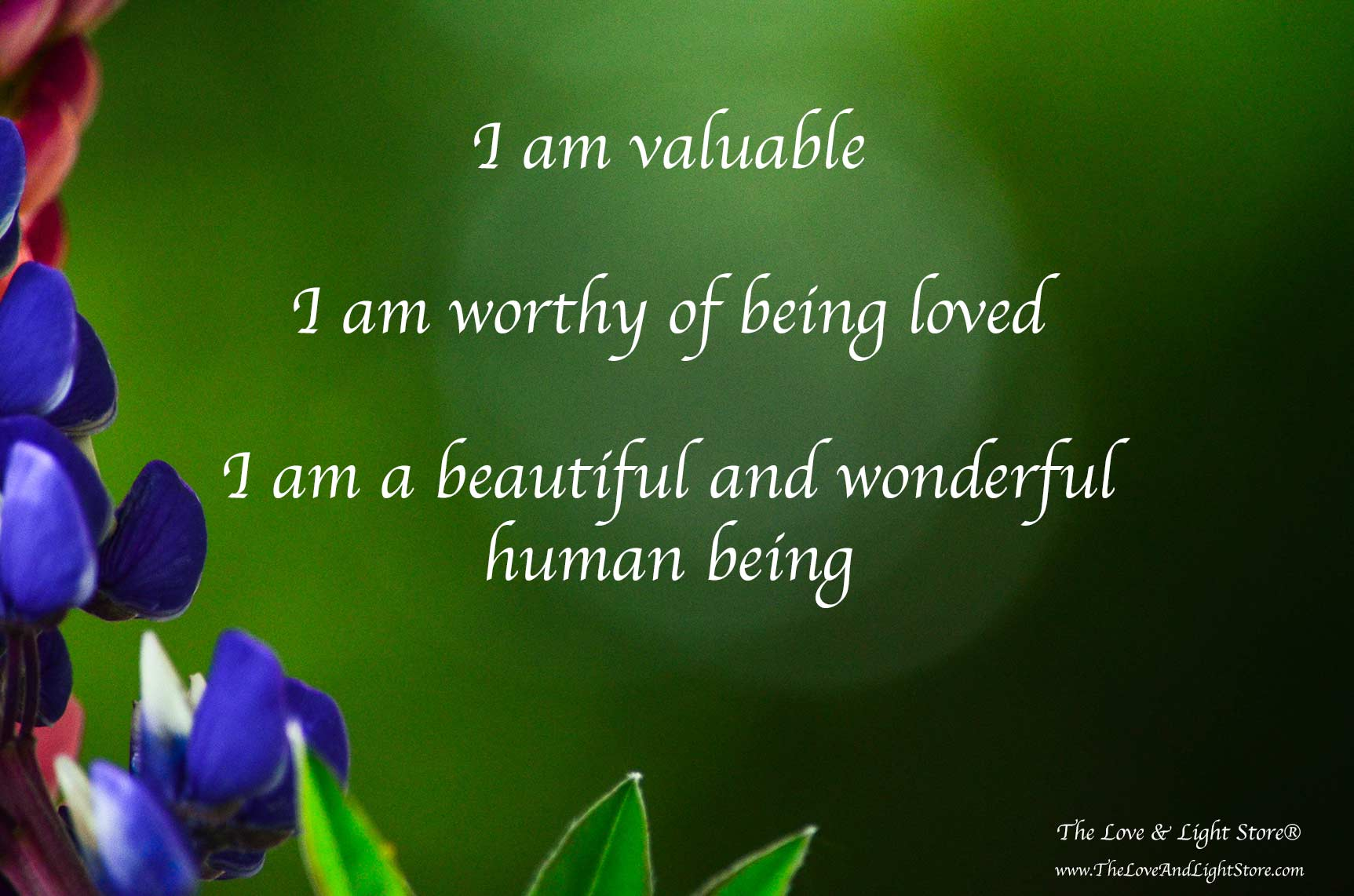 Self love affirmation for an inner realization of worth and value