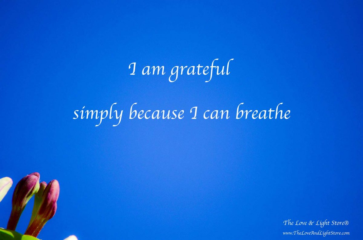 If you find it hard to find something to be grateful for, start by giving thanks for the fact that your body can breathe without your conscious awareness