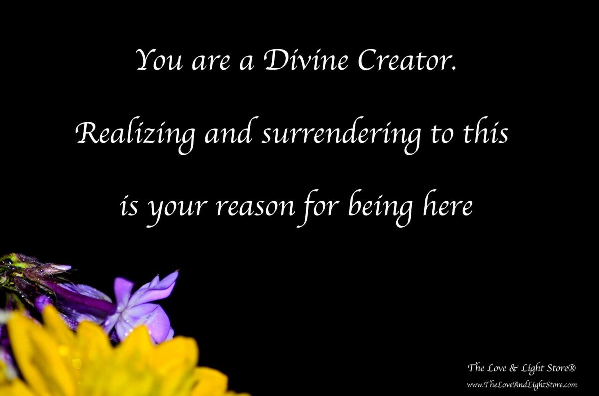 Becoming a Divine Creator is aligning our vibration with the law of attraction and the sacred laws that manifestation happens with ease, grace and dignity