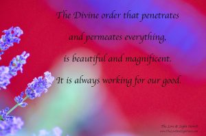 There is only Divine perfect order in the cosmos. Things never just happen but they always happen just.