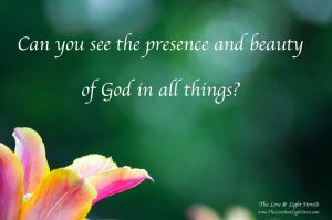 Can you see the presence and beauty of God in all things?