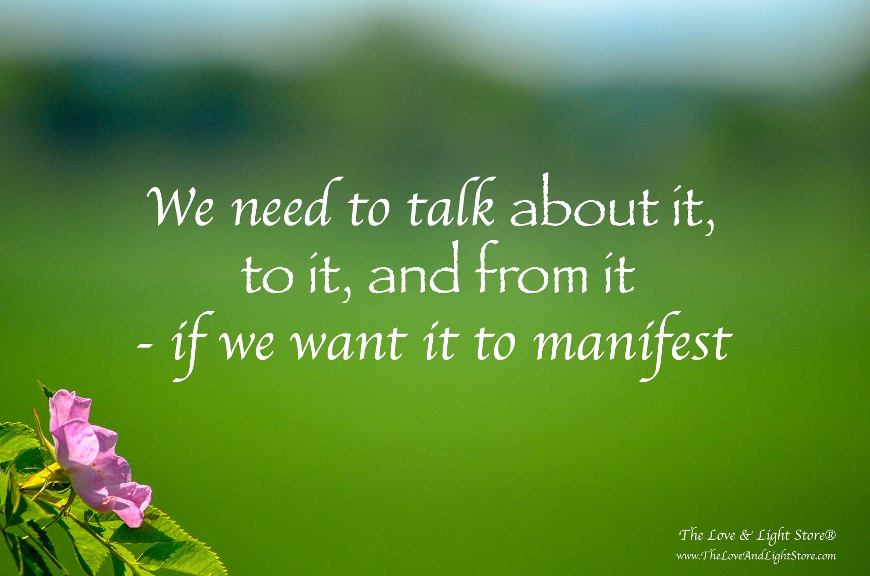 If we want to experience increased financial abundance in our lives, we need to talk about it with the feeling tone that it has already manifested.